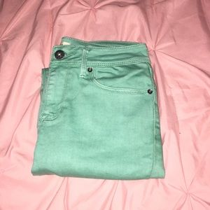 Bullhead teal jeggings